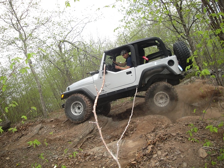 Joe doing some work with the Rubiclone Jeep TJ
