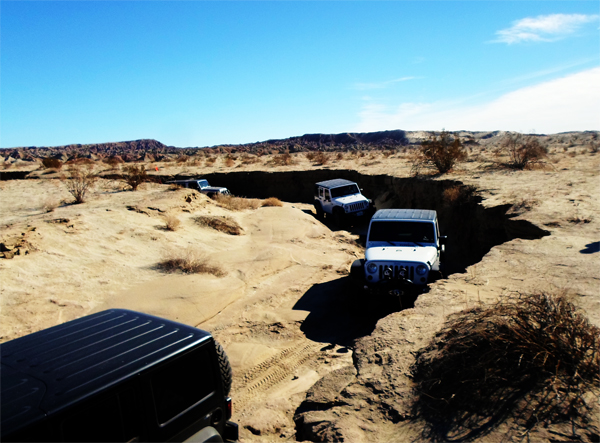Jeeps in the Mojave Desert